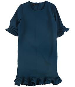 Alfani Womens Pleated Flounce Dress