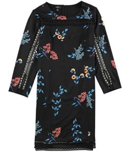 Alfani Womens Illusion Lace Shift Dress