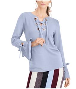 I-N-C Womens Lace-Up Sweatshirt