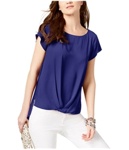 I-N-C Womens Solid Pullover Blouse