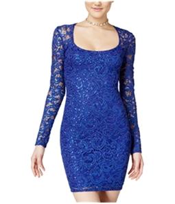 Jump Apparel Womens Glitter A-line Bodycon Dress