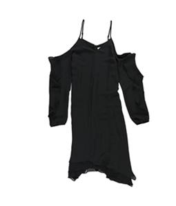 bar III Womens Cold-Shoulder Asymmetrical Dress