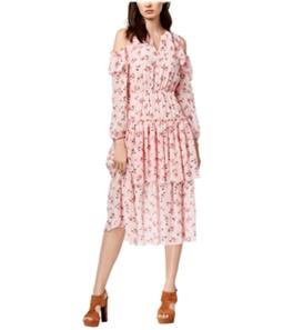 maison Jules Womens Printed Flounce Dress
