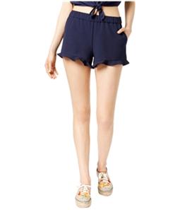 maison Jules Womens Ruffle-Trim Casual Mini Shorts