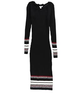 bar III Womens Ribbed-Knit Midi Sweater Dress
