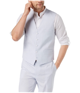 I-N-C Mens Seersucker Five Button Vest