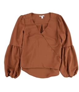 bar III Womens Blouson Sleeve Knit Blouse