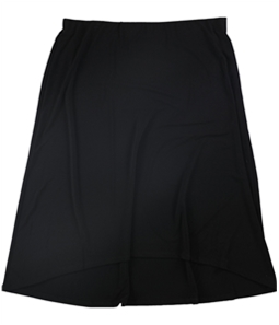 Alfani Womens Solid Pull-On High-Low Skirt