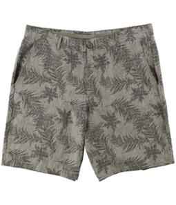 Tasso Elba Mens Printed Casual Chino Shorts