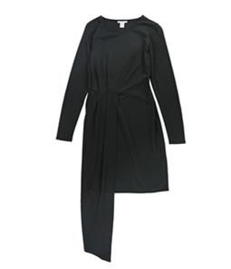 bar III Womens Solid Asymmetrical Dress