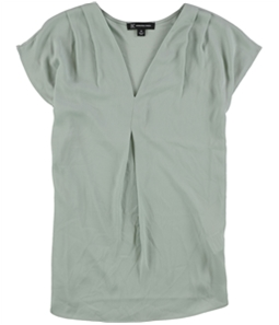 I-N-C Womens Inverted Pleat Pullover Blouse