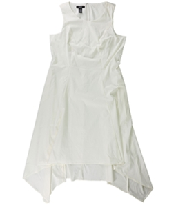 Alfani Womens Solid Asymmetrical Dress