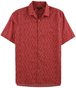 Alfani Mens Jacquard Button Up Shirt