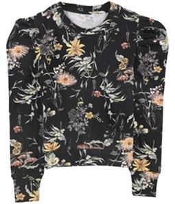 bar III Womens Puffed Sleeve Sweatshirt
