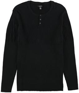 Alfani Mens Ribbed Blocked Henley Sweater