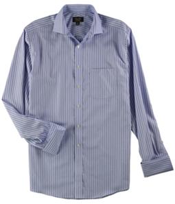 Tasso Elba Mens Stripe Button Up Dress Shirt