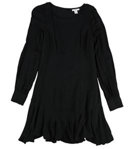 bar III Womens Solid Fit & Flare Dress