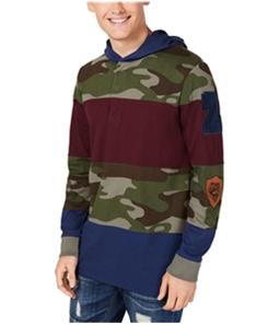 American Rag Mens Pattern Blocked Hoodie Sweatshirt