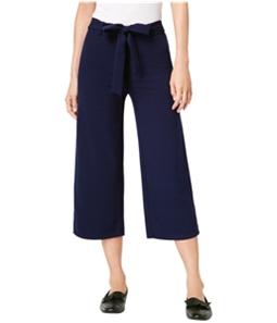 maison Jules Womens Tie Waist Casual Wide Leg Pants
