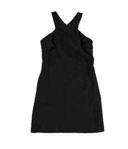 bar III Womens Solid A-line Dress