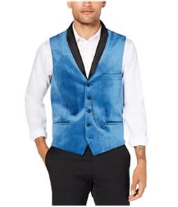 I-N-C Mens Party Velvet Five Button Vest