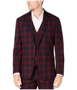 I-N-C Mens Tartan Two Button Blazer Jacket