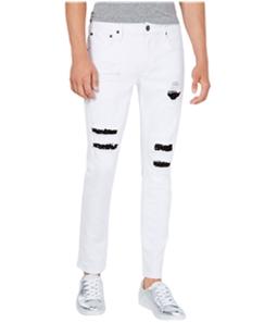I-N-C Mens Studded Repair Skinny Fit Jeans