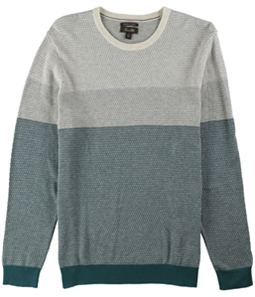 Tasso Elba Mens Colorblocked Supima Pullover Sweater