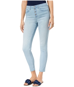 maison Jules Womens Button-Fly Skinny Fit Jeans