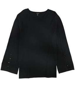 Alfani Womens Button Sleeve Pullover Blouse