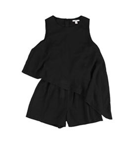 bar III Womens Asymmetrical Romper Jumpsuit