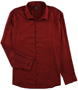 Alfani Mens Vesper Twill Button Up Shirt