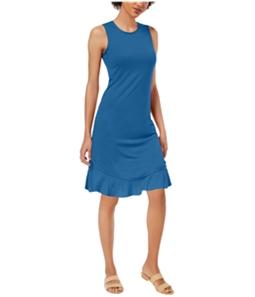 maison Jules Womens Ruffled-Hem Bodycon Dress