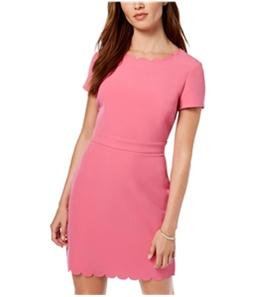 maison Jules Womens Scalloped Sheath Dress