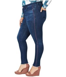 I-N-C Womens Racing Stripe Skinny Fit Jeans