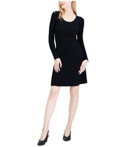 maison Jules Womens Ribbed Sweater Dress