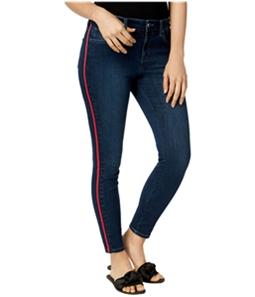 maison Jules Womens Racer-Stripe Skinny Fit Jeans