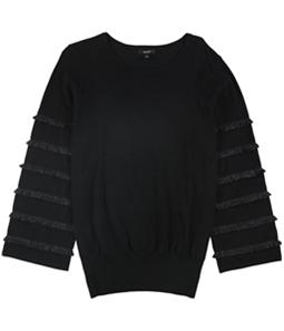 Alfani Womens Tiered Fringe Pullover Sweater