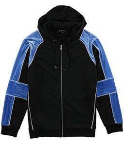 I-N-C Mens Velour Panel Hoodie Sweatshirt