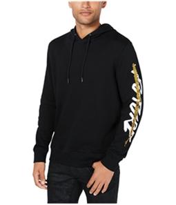 I-N-C Mens Sequin Graphic Hoodie Sweatshirt