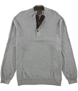 Tasso Elba Mens Mock Neck Textured Pullover Sweater