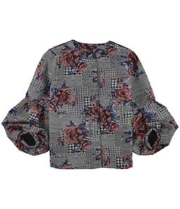 Alfani Womens Bubble Sleeve Blazer Jacket