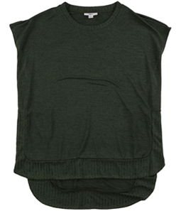 bar III Womens Ribbed Trim Pullover Sweater