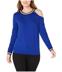 I-N-C Womens Striped Cold Shoulder Sweatshirt