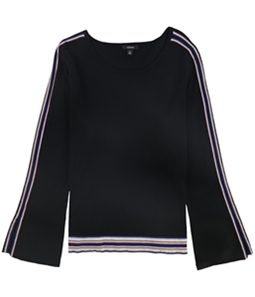 Alfani Womens Striped Bell Sleeve Pullover Sweater