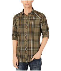 I-N-C Mens Plaid Button Up Shirt