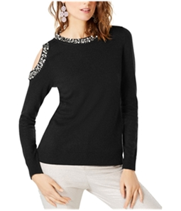 I-N-C Womens Embellished Pullover Sweater