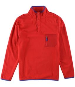 Club Room Mens Bttn Mock Fleece Pullover Sweater