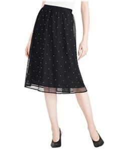 maison Jules Womens Pearl Midi Tulle Skirt