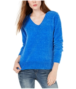 maison Jules Womens Chenille V-Neck Pullover Sweater